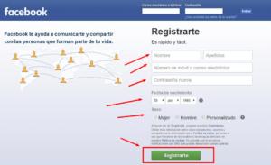 registrar en facebook