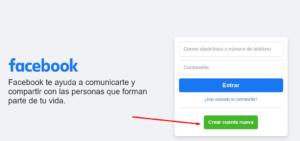 crear cuenta de facebook directo