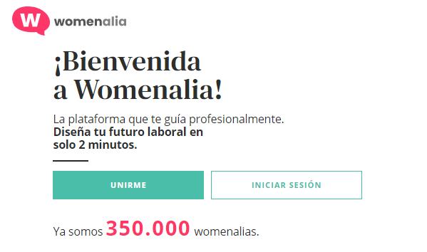 bienvenida a la red social womenalia