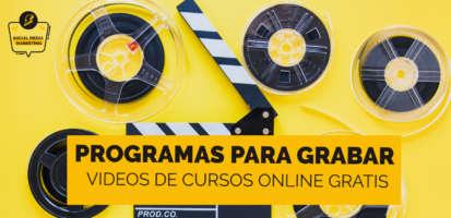 Social Media Marketing Digital - 11 Mejores herramientas gratis para grabar videos de cursos online 2021
