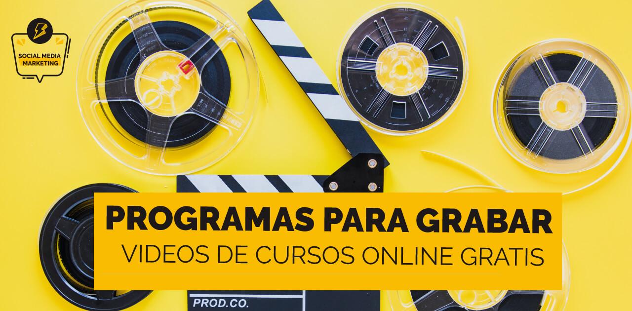 portada del post sobre los Mejores programas para grabar videos de cursos online gratis