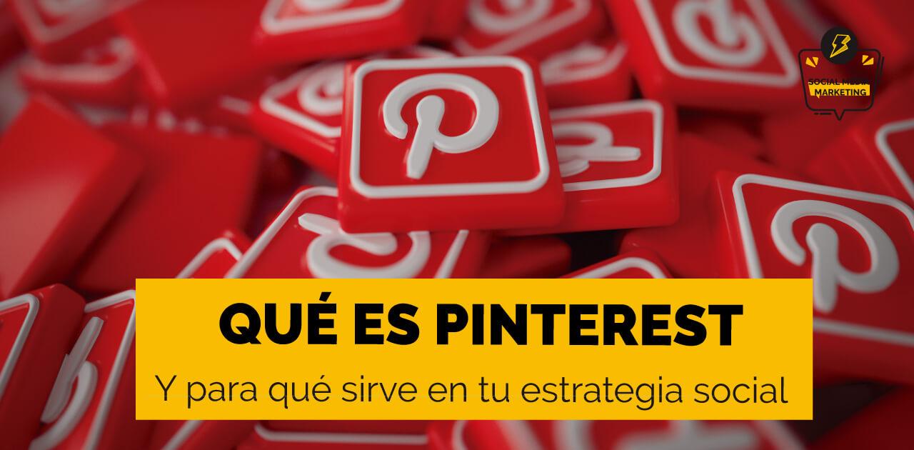 Qué es Pinterest y para qué sirve portada de post con iconos sobre esta red social