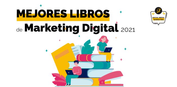 Portada con los mejores libros de marketing digital 2021