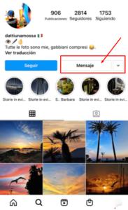 enviar mensaje directo por instagram